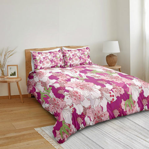 Image of Pink Flowers Bedding Set - Beddingify