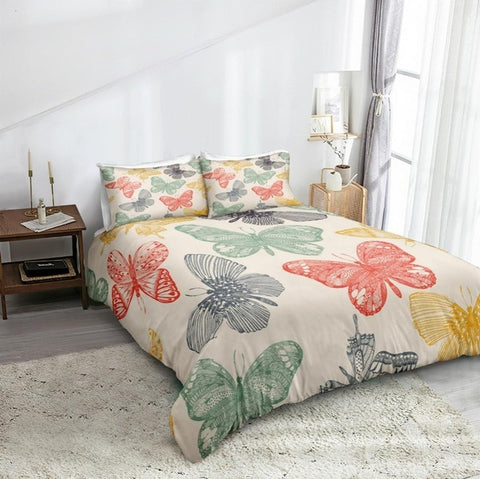 Image of Butterflies Bedding Set - Beddingify