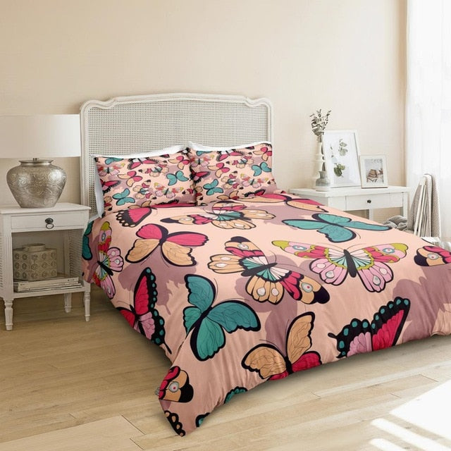 Pastel Butterfly Bedding Set - Beddingify