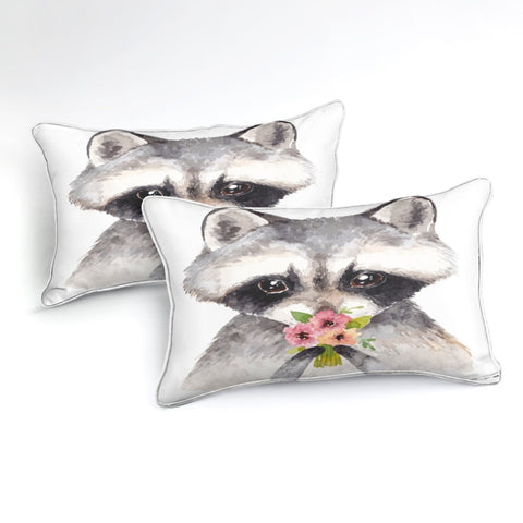 Image of Flower Raccoon Bedding Set - Beddingify