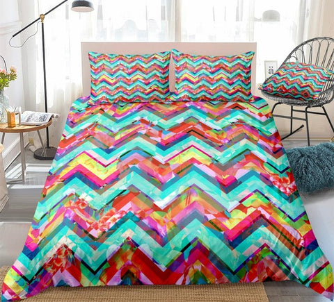 Colorful Ethnic Geometric Bedding Set - Beddingify