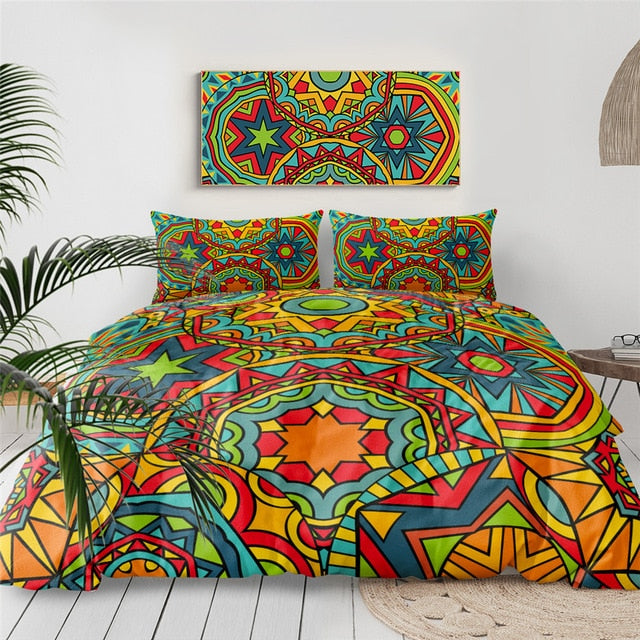 Ethnic Mandala Indigo Bedding Set - Beddingify