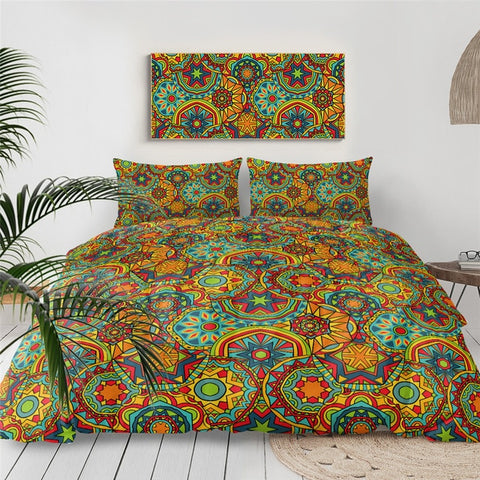Image of Boho Mandala Indigo Bedding Set - Beddingify