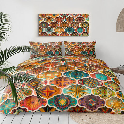 Image of Boho Flower Bedding Set - Beddingify
