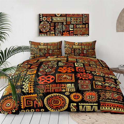 Tribal Geometric Bedding Set - Beddingify
