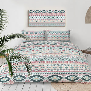 Blue Aztec Geometric Bedding Set - Beddingify