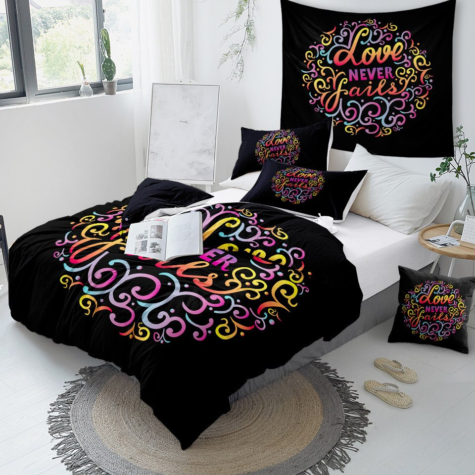 Love Never Fails Bedding Set - Beddingify