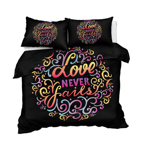 Image of Love Never Fails Bedding Set - Beddingify