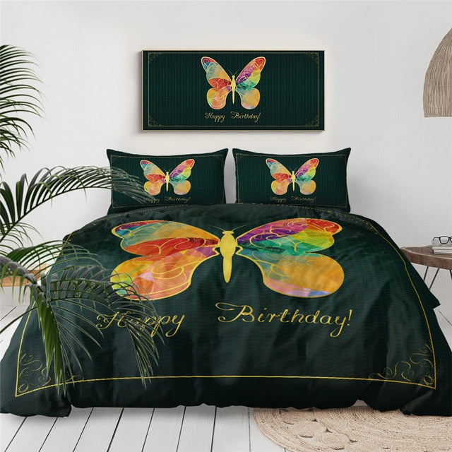 Tie Dye Butterfly Bedding Set - Beddingify