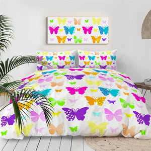 Multicolor Butterflies Bedding Set - Beddingify