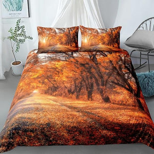 Autumn Forest Landscape Comforter Set - Beddingify