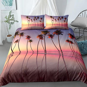 Pink Sunset Landscape Comforter Sets - Beddingify