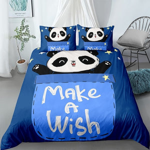 Blue Panda Bedding Set - Beddingify