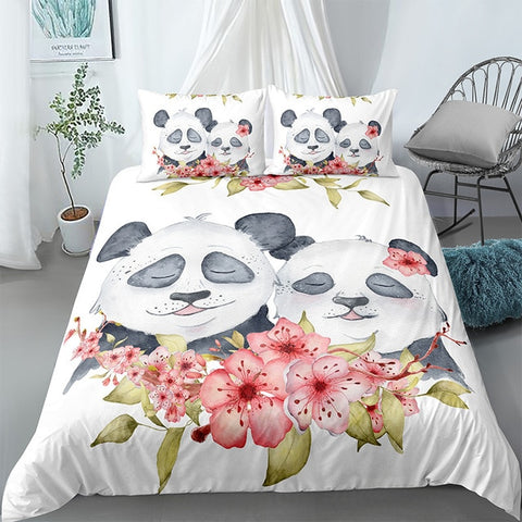 Couple Panda Bedding Set - Beddingify