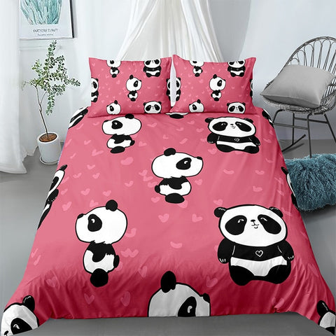 Cartoon Panda Pattern Bedding Set - Beddingify