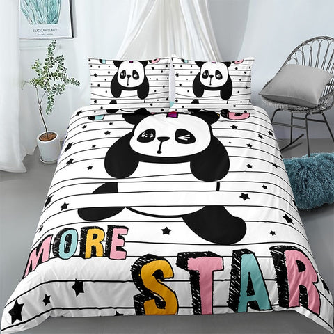 Cartoon Panda Bedding Set - Beddingify