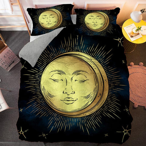 Bohemian Moon And Sun Bedding Set - Beddingify