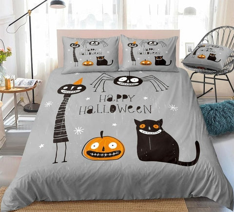 Cartoon Halloween Bedding Set - Beddingify
