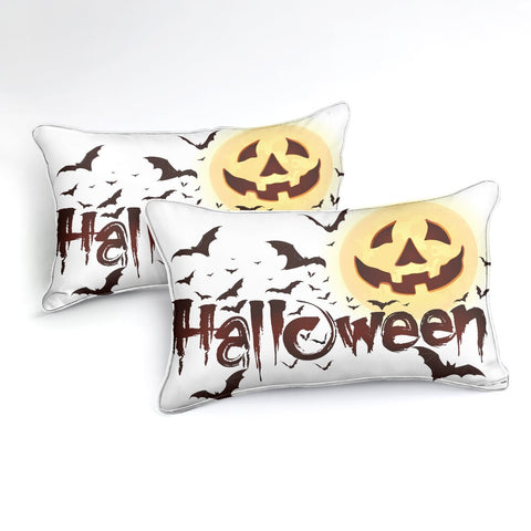 Halloween Bats Jack-o-Lantern Bedding Set - Beddingify