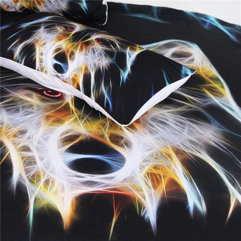 3D Wolf Head Bedding Set