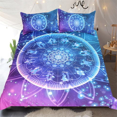 Image of Galaxy Burgundy Mandala Bedding Set - Beddingify