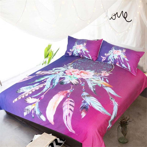 Image of Six Colors Dreamcatcher Bedding Set - Beddingify