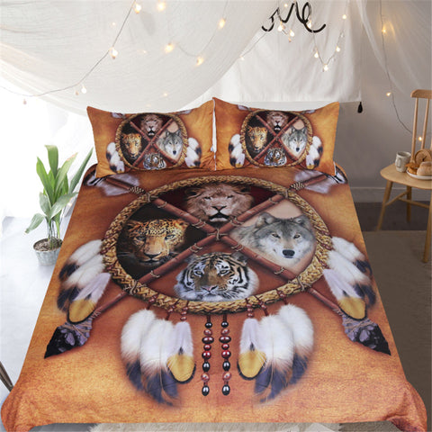 Wolf Dreamcatcher Bedding Set - Beddingify