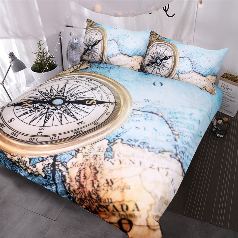 Compass Printed Bedding Set - Beddingify