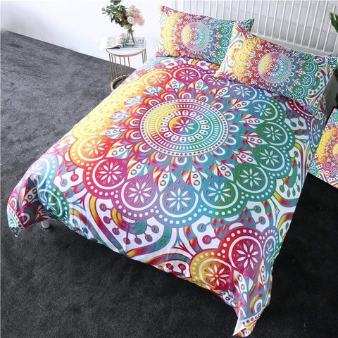 Image of Rainbow Mandala Comforter Set - Beddingify