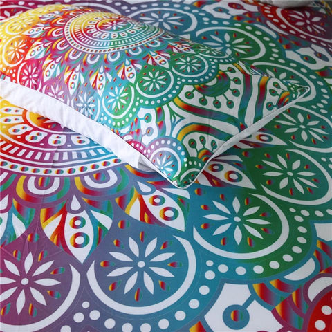 Image of Rainbow Mandala Bedding Set - Beddingify