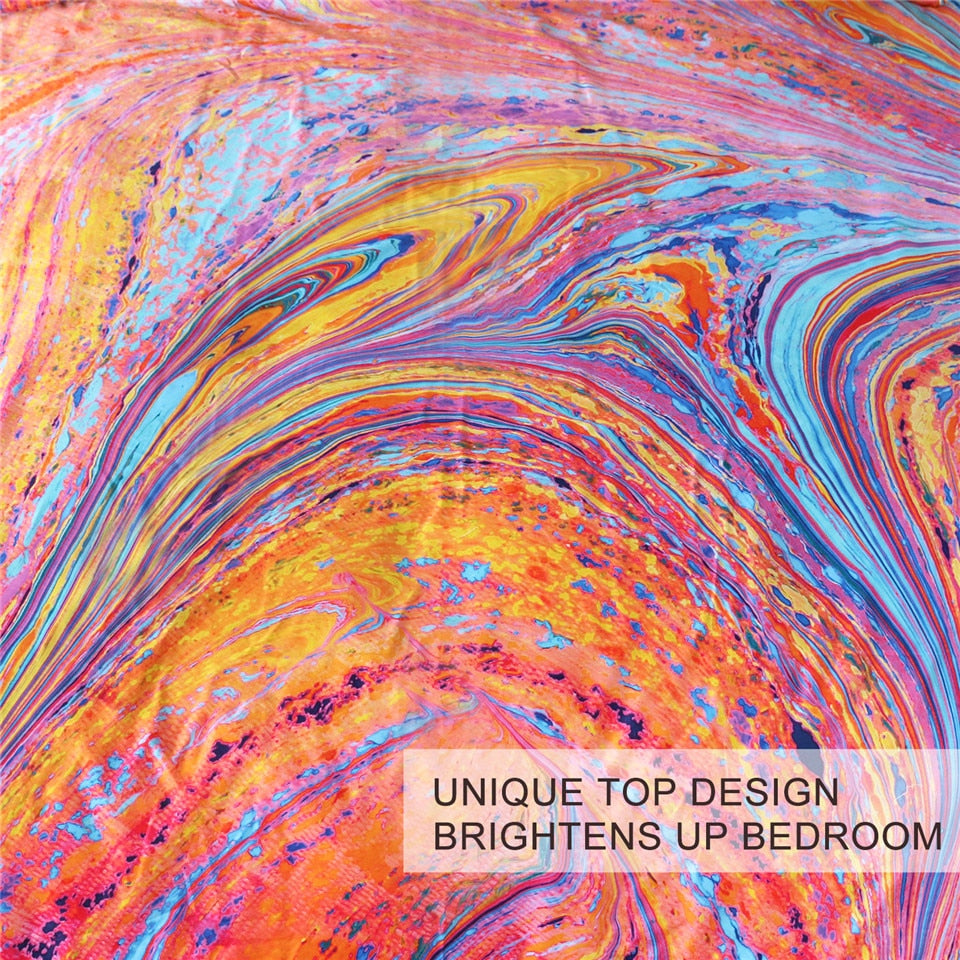 Colorful Marble Bedding - Beddingify