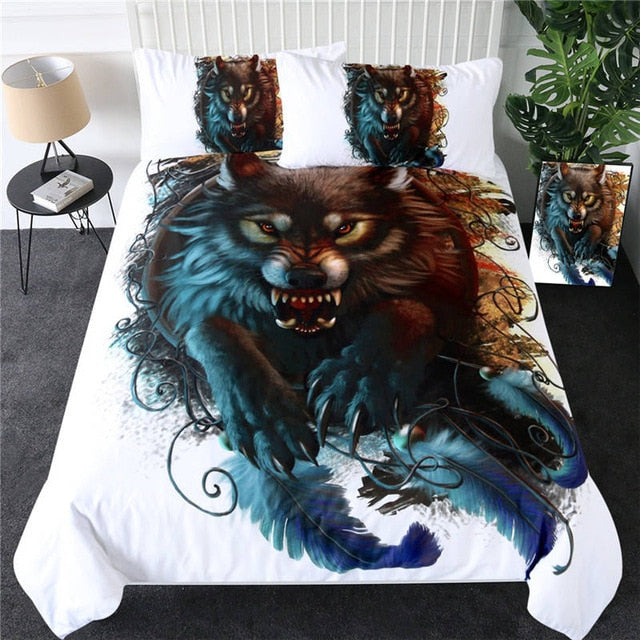 Running Wolf Art Bedding Set - Beddingify
