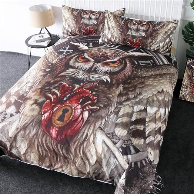 Queen Flying Owl Bedding Set - Beddingify
