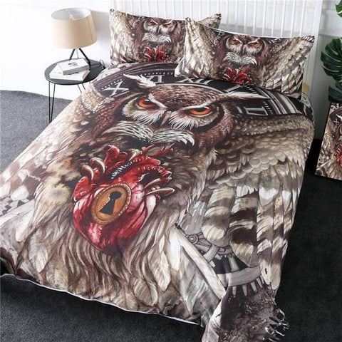 Image of Queen Flying Owl Bedding Set - Beddingify