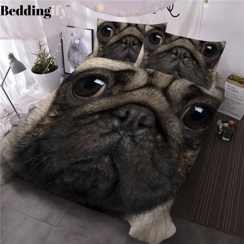 3D Bulldog Bedding Set - Beddingify
