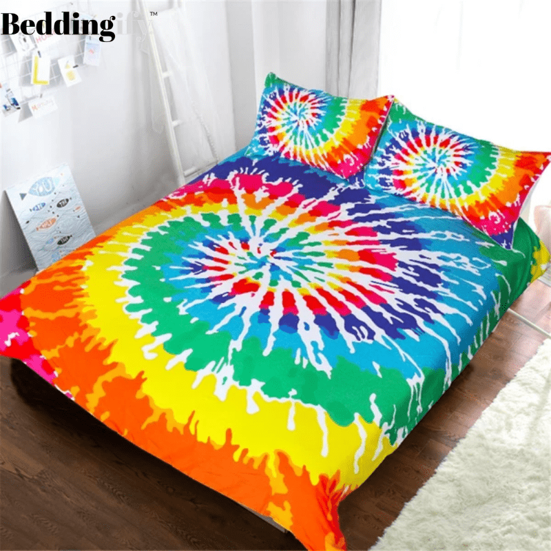 Rainbow Tie Dye Bedding Set - Beddingify