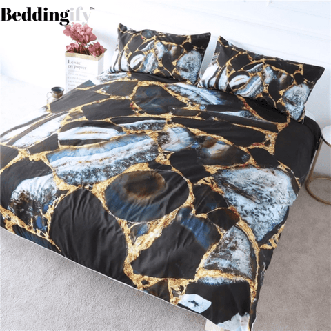 Image of Rock Marble Bedding Set