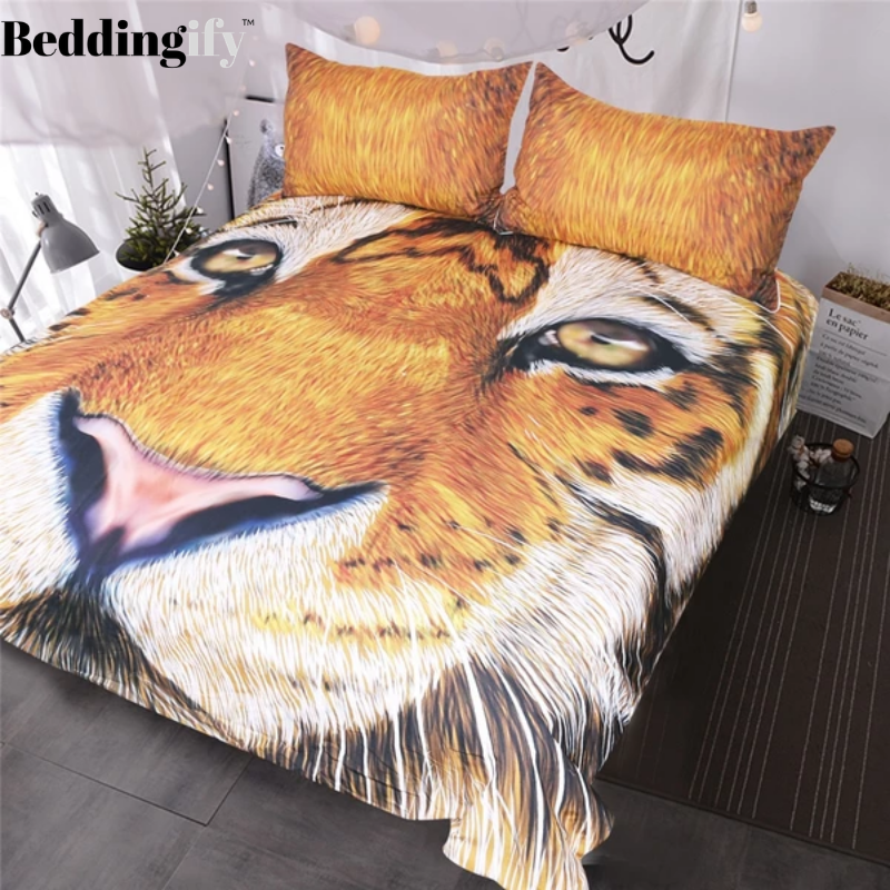 Tiger Face Drawing Bedding Set - Beddingify