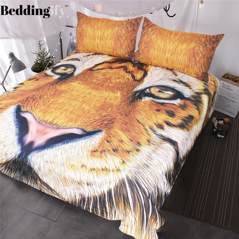 Image of Tiger Face Drawing Bedding Set - Beddingify