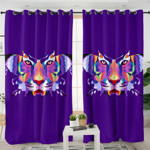 Tiger Morphed Butterfly 2 Panel Curtains