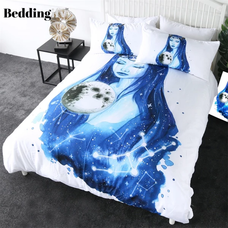 Virgo Planet Art Comforter Set - Beddingify