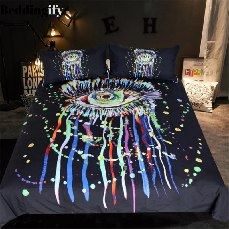 Watercolor Eye Bedding Set - Beddingify