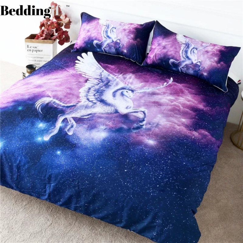 Flying Unicorn Bedding Set - Beddingify
