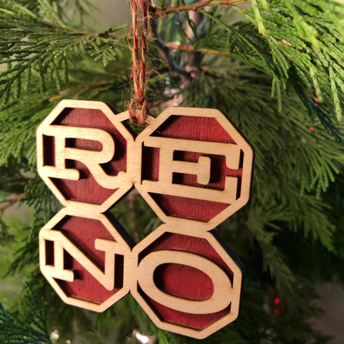 RENO square ornament