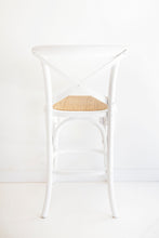 Load image into Gallery viewer, Provincial Cross Back Counter Stool – White