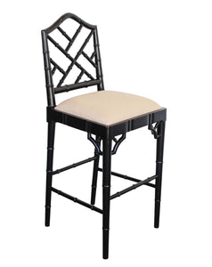 Chippendale Counter Stool – Black
