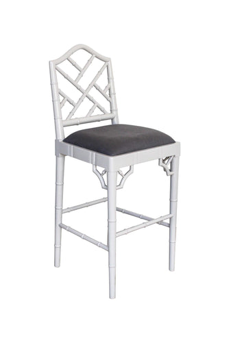 Chippendale Counter Stool – French Grey