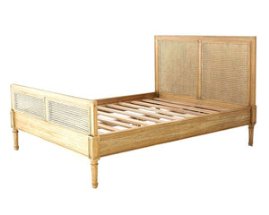 Super King Size Hamilton Cane Bed – Weathered Oak