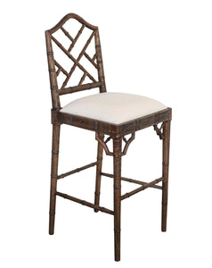 Chippendale Counter Stool – Dark Oak