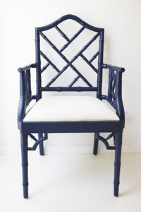 Chippendale Armchair – Navy